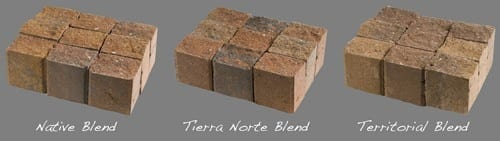 3 color sets of antique split pavers