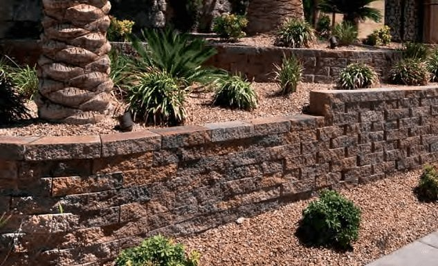 mesa wall and retaining wall