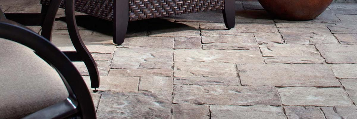 Benefits - Outdoor Porch Lounging Area with Stone Pavers