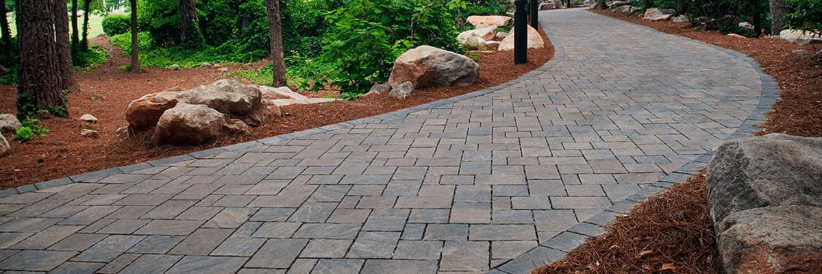 Benefits - Paver Path Through Yard