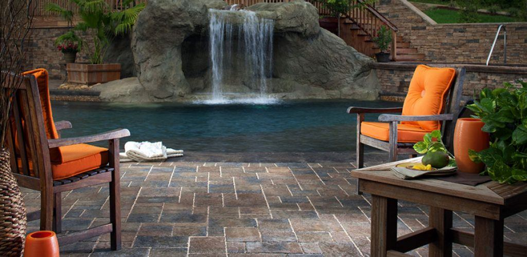 Home - Stone Paver Patio and Pool Deck