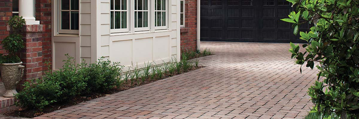 Installation - Brick Pavers Used to Create a Patio and Driveway