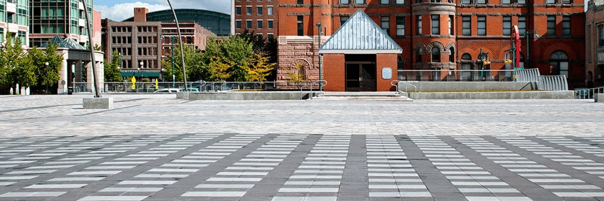 Why Pavers - Strength - Stone Pavers used for a Commercial location