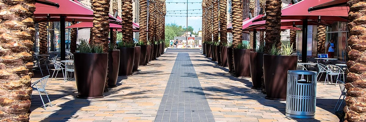 Quality & Warranty - Pavestone - Palm Trees Surround Commercial Pavers